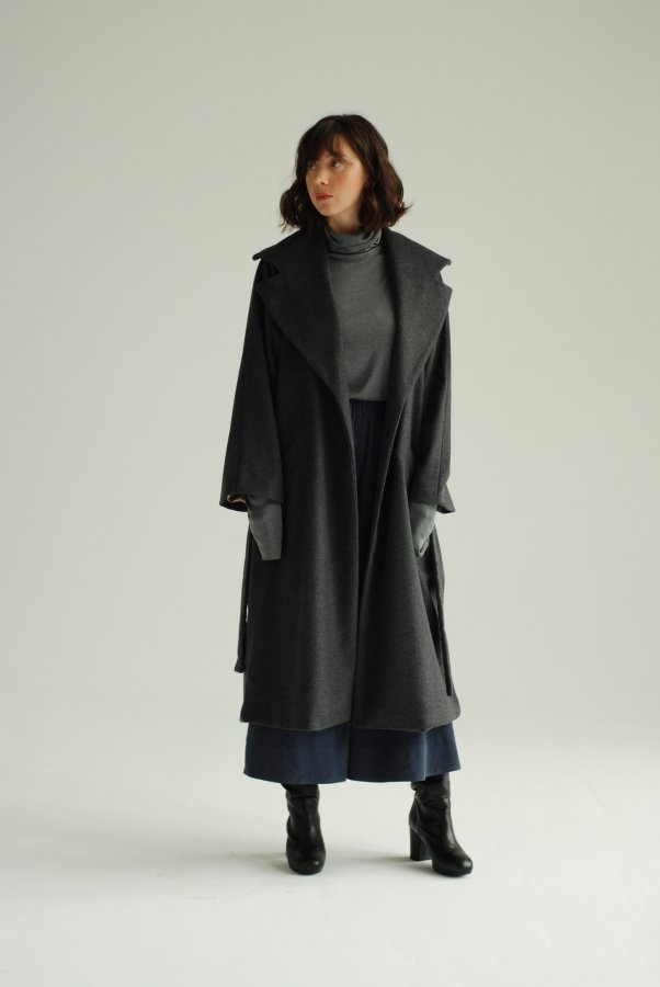 Asturia Wool Coat Grey 2