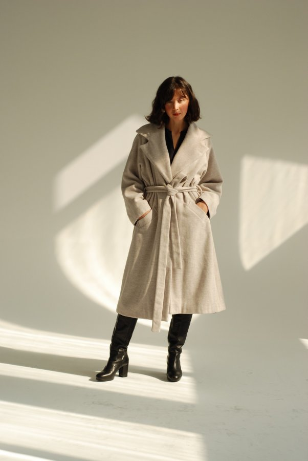 Asturia Wool Coat Melange 1