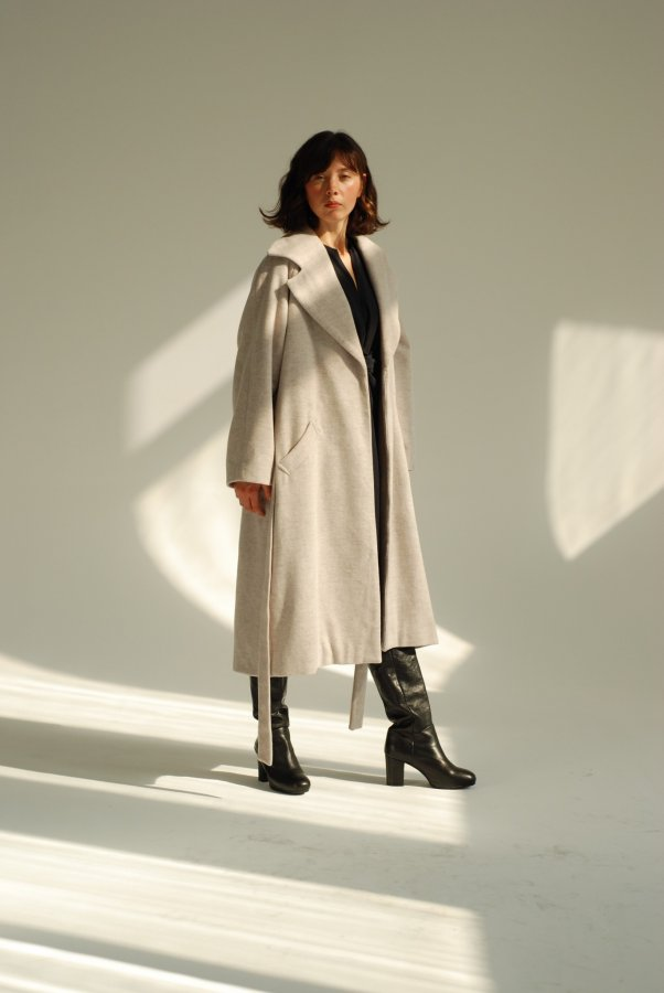 Asturia Wool Coat Melange 2